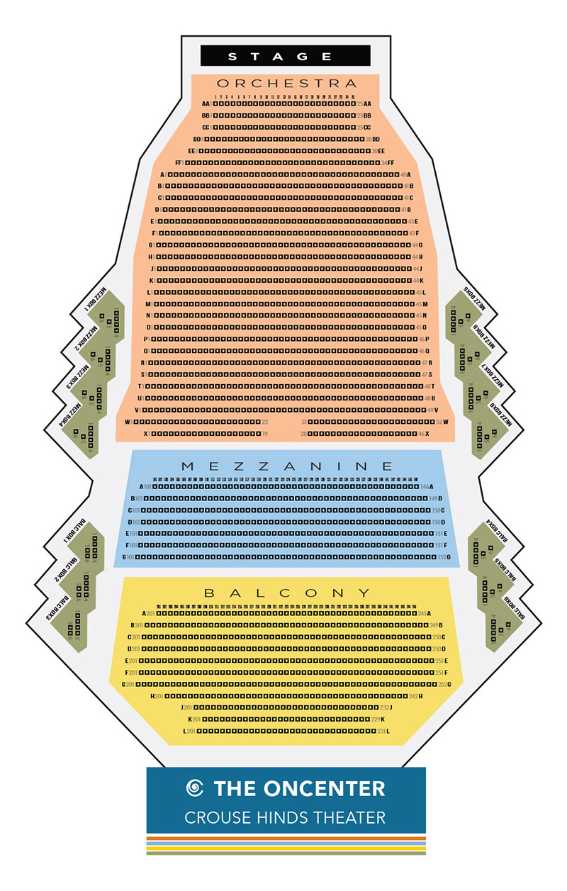 Oncenter Crouse-Hinds Theatre Seating Chart