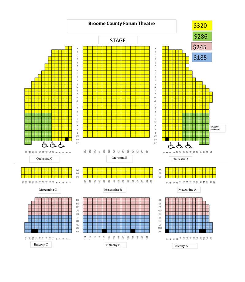 Binghamton Season Seating Chart