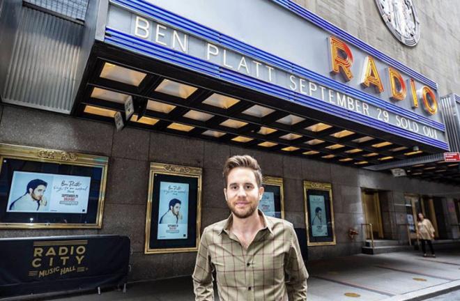 Ben Platt outside Radio City Music Hall