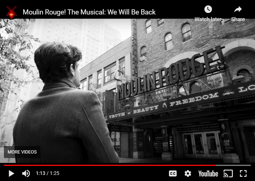 "Moulin Rouge ""we'll be back"" video"